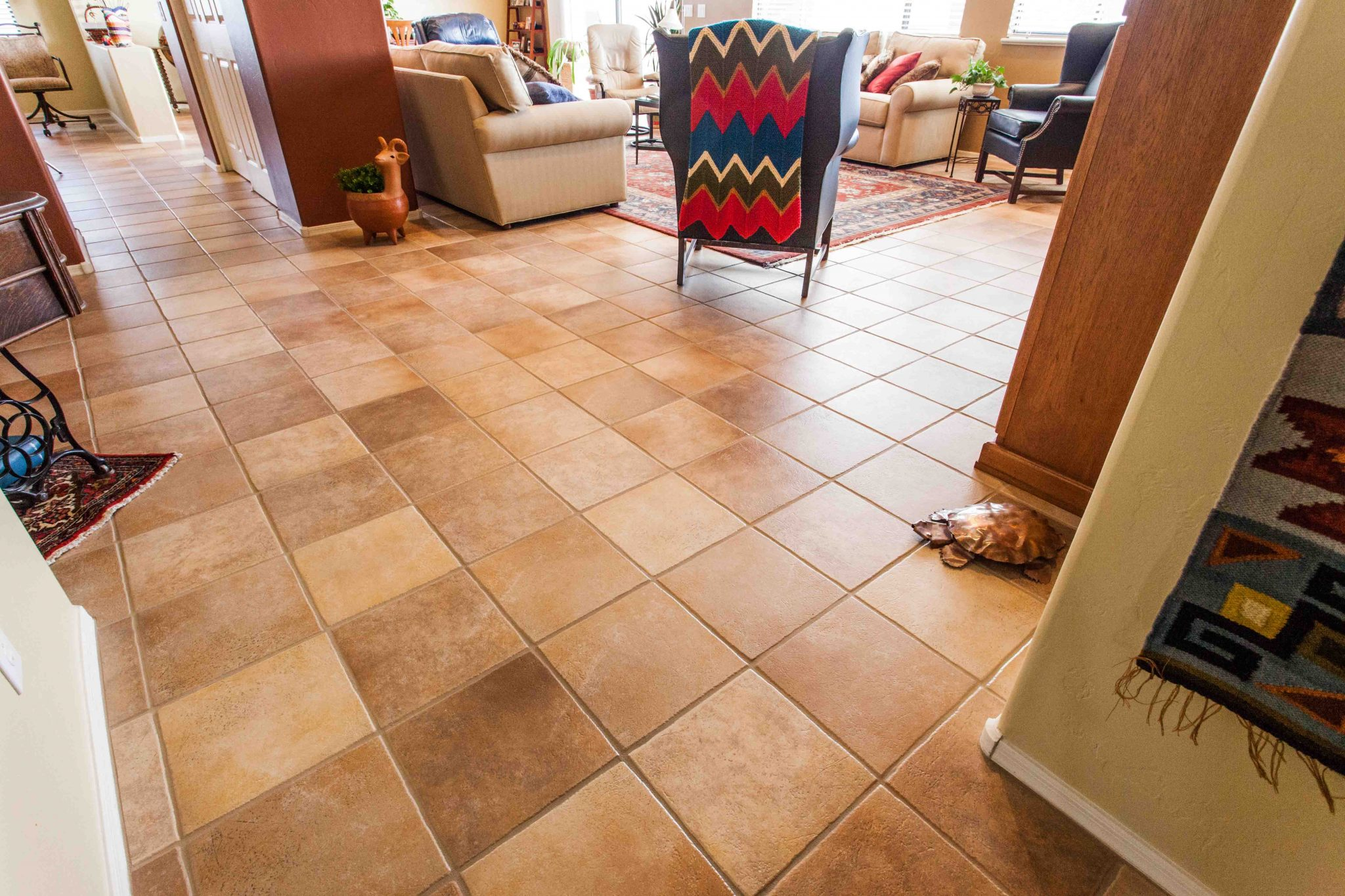 Ceramic Tile And Grout Cleaning Living Room Corner 2 Az Tile