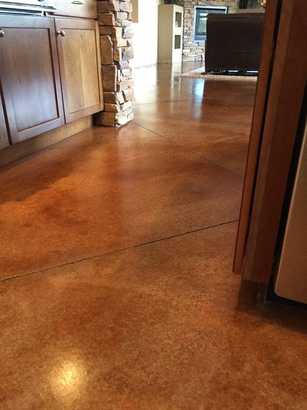 Concrete Floor After Polishing Az Tile Grout Care Tucson