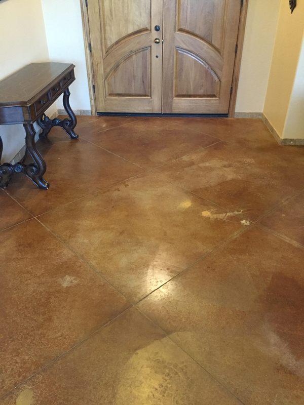 Concrete Floor Before Polishing Arizona Tile Grout Care Tucson