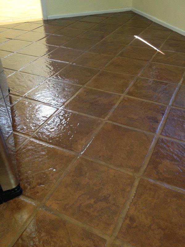 Concrete Tiles After Polishing Photo By Az Tile Grout Tucson