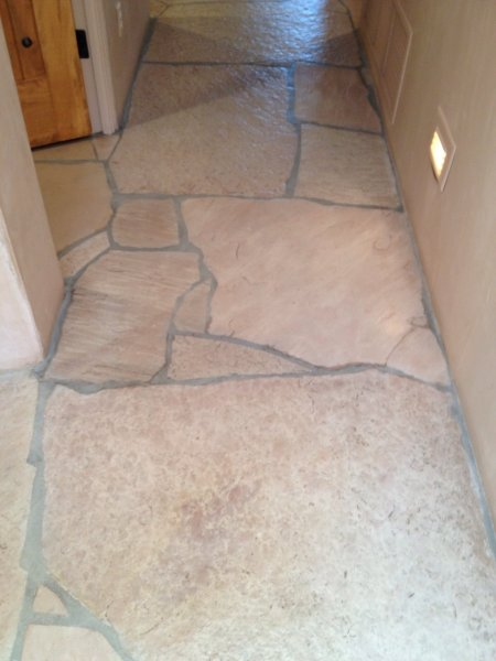 Flagstone AFTER Cleaning   Job Done In Marana   AZ Tile And Grout Care