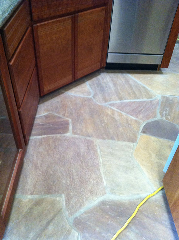 Flagstone AFTER Cleaning   Job Done In Tucson By AZ Tile And Grout Care