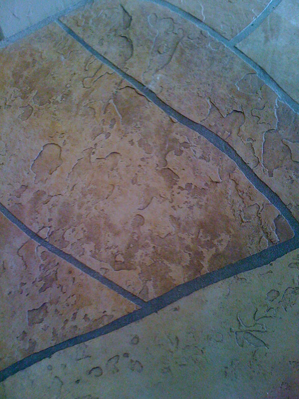 flagstone floor before cleaning and restoration az tile and grout