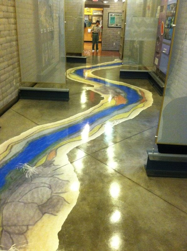Integral Colored Concrete Floor After Polishing 2