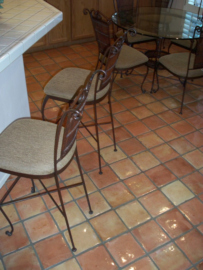 kitchen saltillo tile after sealing photo credit az tile u0026 grout care tucson