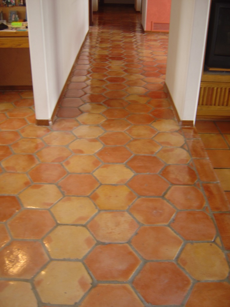 Saltillo Tile After Sealing High Traffic Area Photo