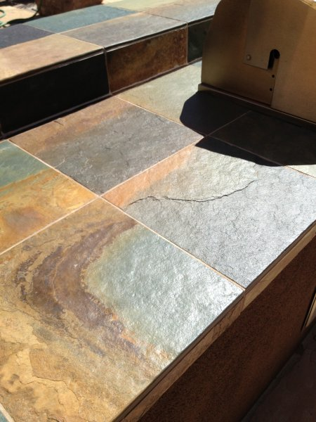 Slate Countertop After Cleaning And Sealing Az Tile