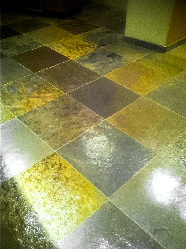 Slate Floor Tile After Cleaning Sealing Az Tile Grout Care