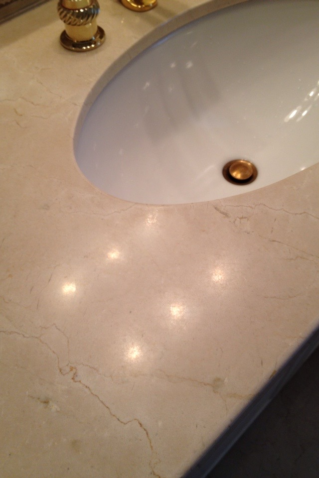 Travertine Countertop Vanity Before Stone Diamond