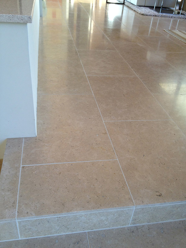 Limestone Floor Tiles AFTER Polishing