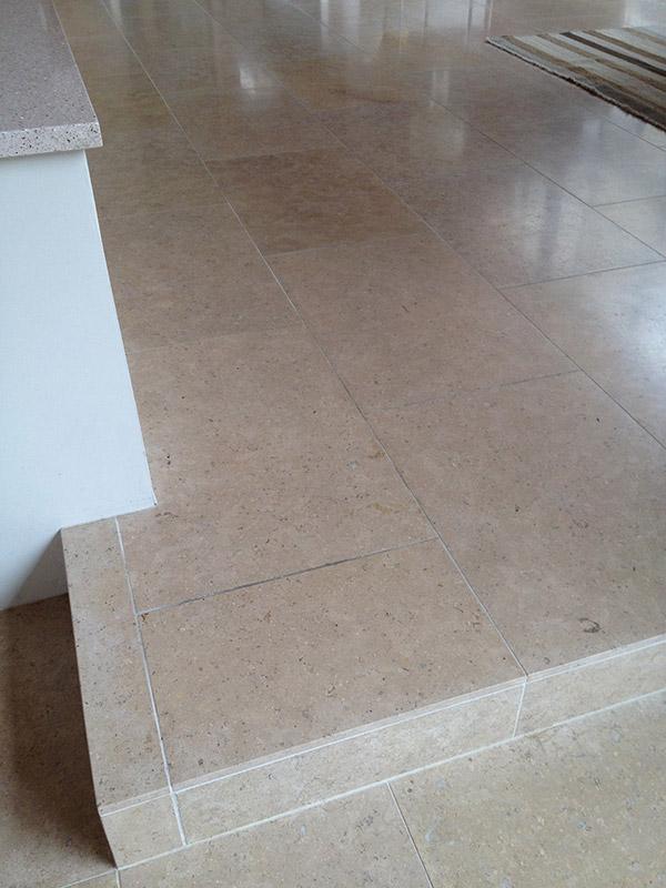 Limestone Floor Tiles Before Polishing Photo Credit Az Tile Grout Care Tucson