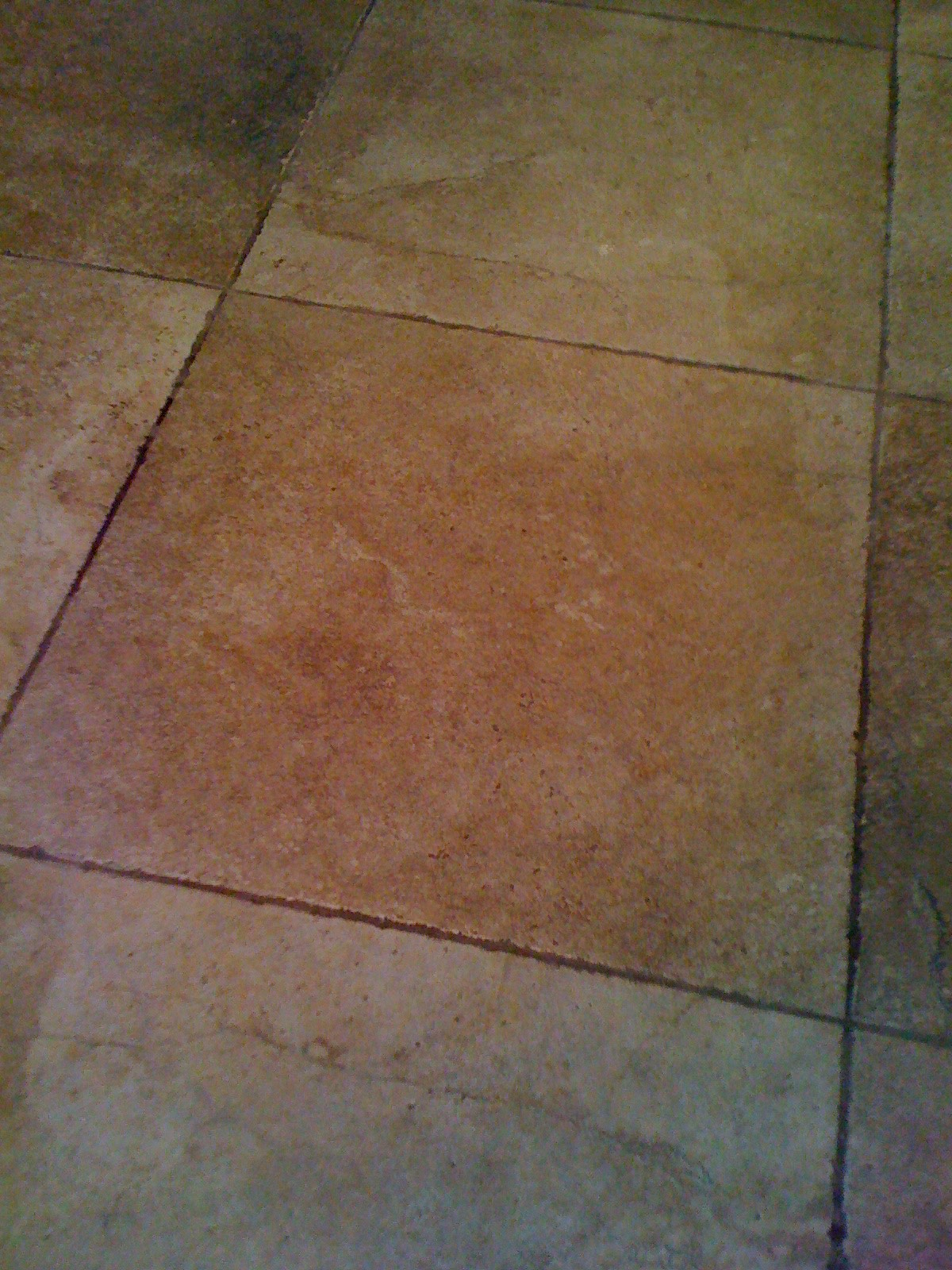 Porcelain Tile And Grout Before Cleaning Sealing Tucson