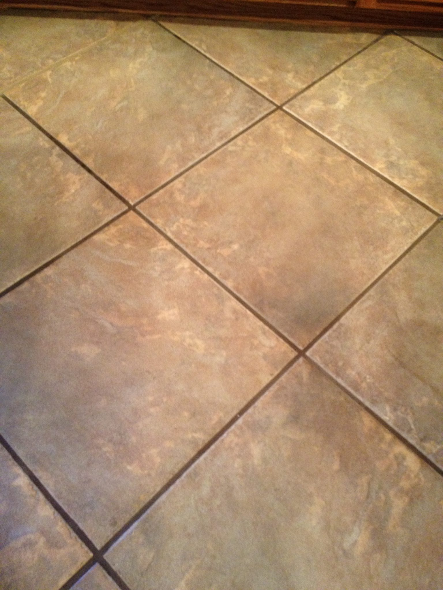 Porcelain Tile And Grout Before Cleaning Sealing Photo Credit Az Tucson