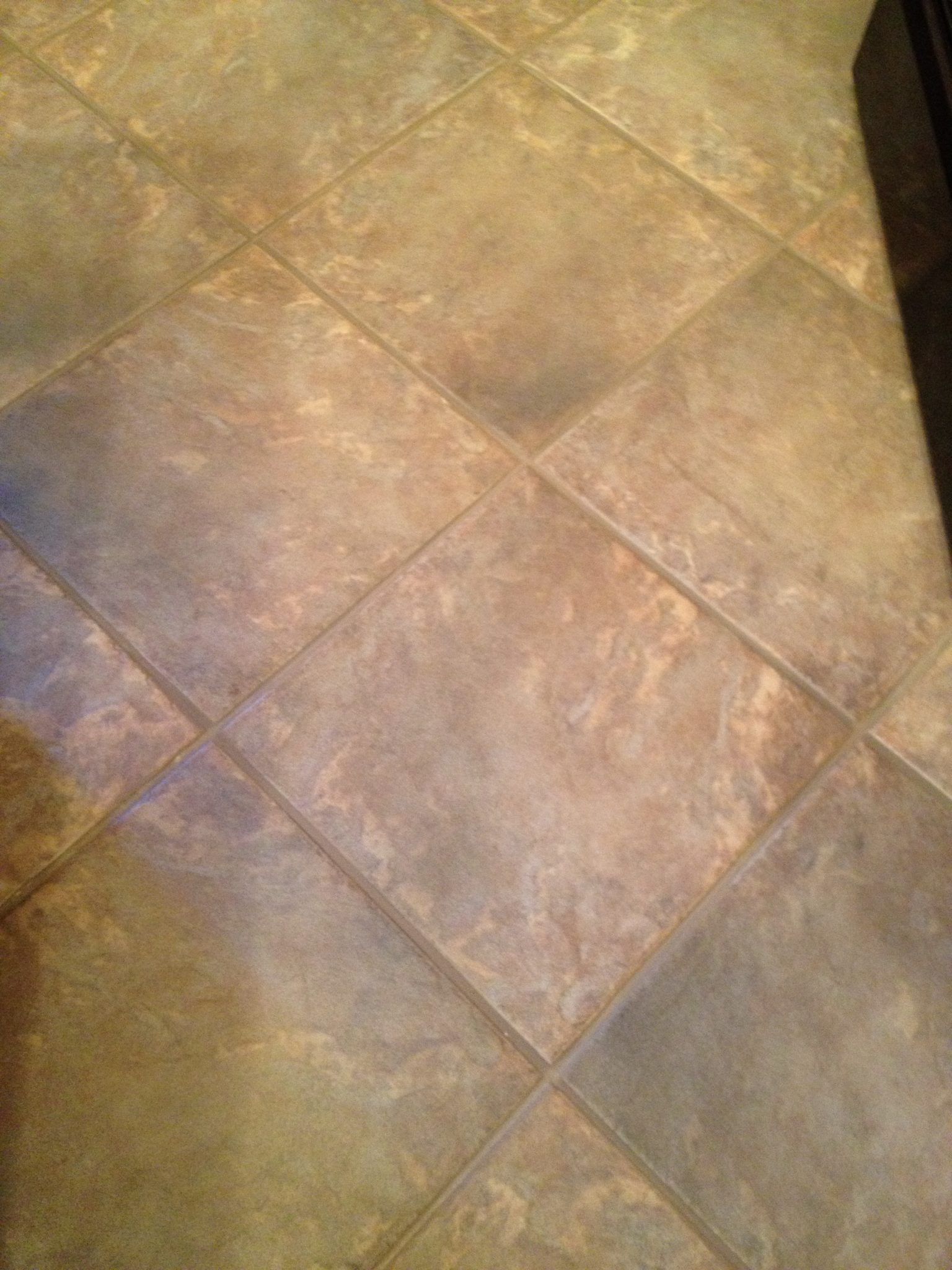 Porcelain Tile And Grout After Cleaning And Sealing