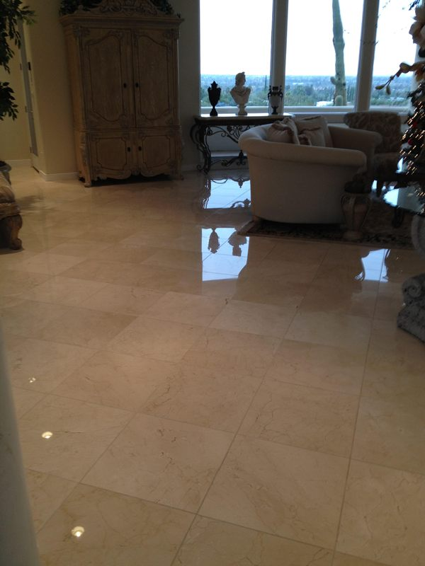 Marble Floor After Polishing Arizona Tile And Grout Care Tucson