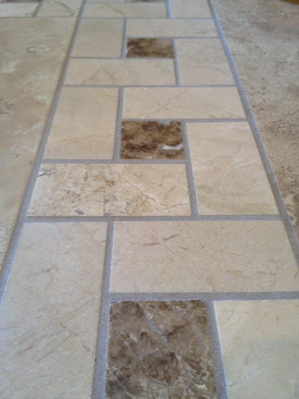 Marble Tiles Before Cleaning And Polishing Az Grout Tucson